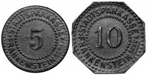 Frankenstein (Ząbkowice śląskie), 5 i 10 fenigów 1917 (2szt)