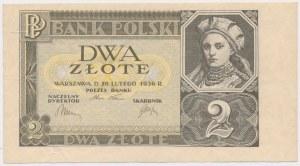 2 złote 1936 - bez serii i numeracji