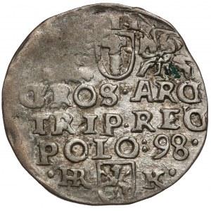 Zygmunt III Waza, Trojak Wschowa 1598 - litery •HR-K•