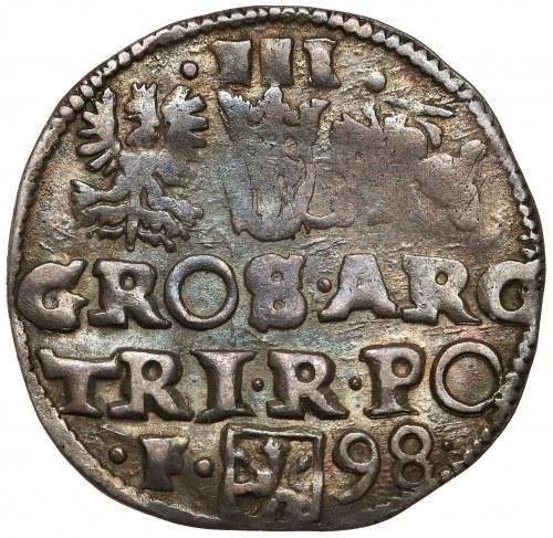 Zygmunt III Waza, Trojak Wschowa 1598 - F z lewej
