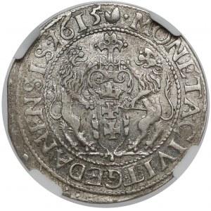 Zygmunt III Waza, Ort Gdańsk 1615 - spiczasta - kropa za