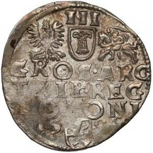 Zygmunt III Waza, Trojak Wschowa 1598 - pełna data - rzadszy