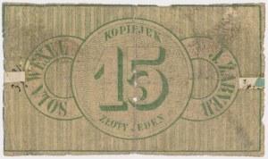 Działoszyce, J. Zabner, 15 kopiejek 1862