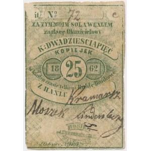 Janów, Moszek Linderbergek, 25 kopiejek 1862