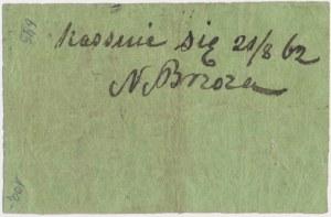 Ostrołęka, Skład cukru, N. Brzoza, 25 kopiejek 1861