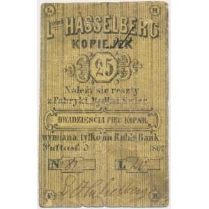 Pułtusk, Fabryka mydła i świec, Ludwik Hasselberg, 25 kopiejek 1862