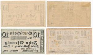 Falkenburg (Złocieniec), 3x 10 i 50 pfg 1920 (4szt)