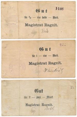 Ragnit (Ragneta), 1/2, 1 i 2 mk 1914 (3szt)