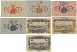 Reinerz (Duszniki Zdrój), 10, 25 i 50 pfg 1918-21 (7szt)