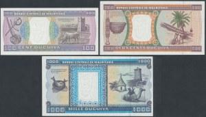 Mauritania, 100, 200 and 1.000 Ouguiya 1996 (3pcs)