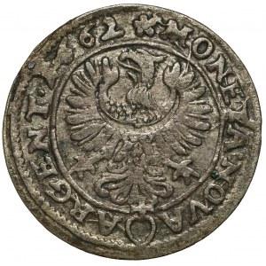 Śląsk, Chrystian wołowski, 3 krajcary 1662, Brzeg