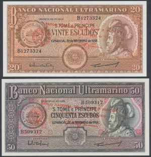 Sao Tome and Principe, 20 & 50 Escudos 1958 (2pcs)
