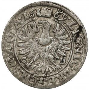 Śląsk, Chrystian wołowski, 3 krajcary 1669 CB, Brzeg