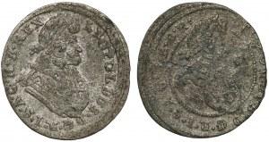 Śląsk, Leopold I, 1 krajcar 1697 i 1698 CB, Brzeg (2szt)