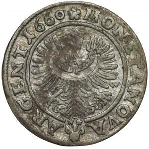 Śląsk, Chrystian wołowski, 3 krajcary 1660, Brzeg