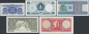 Egypt, 25 Piastres - 10 Pounds 1952-78 (5pcs)