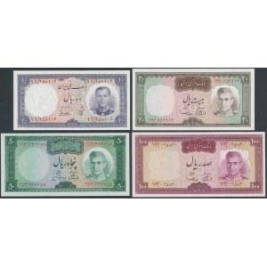 Iran, 10 - 100 Rials (1961-73) - set of 4 pcs