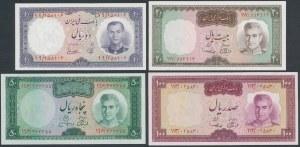 Iran, 10 - 100 Rials (1961-73) - zestaw (4szt)