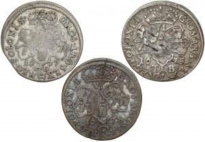 Szóstaki Jan III Sobieskiego - rzadsze, zestaw (3szt)