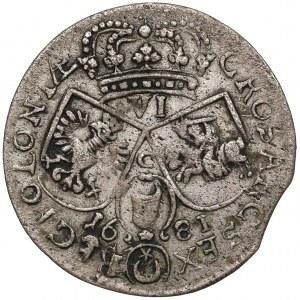 Jan III Sobieski, Szóstak Kraków 1681 - C wysoko