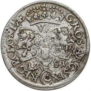 Jan III Sobieski, Szóstak Kraków 1681 - C pod tarczą