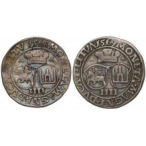 Czworaki Wilno Zygmunta II August 1568-1569 (2szt)