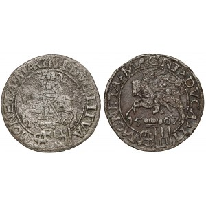 Grosze na stopę polską Zygmunta II Augusta - 1546 i 1567 (2szt)