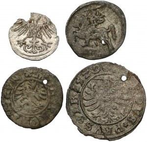 Zygmunt I i Zygmunt II, od denara do szeląga 1528 - 1569 (4szt)