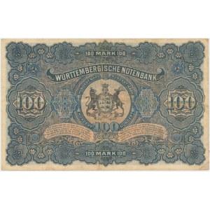 Germany, Stuttgart, 100 Mark 1911