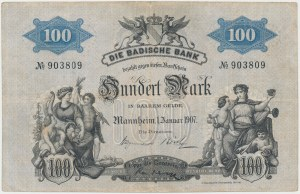 Germany, Badische Bank, 100 Mark 1907
