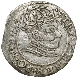 Stefan Batory, Grosz Ryga 1581 - pełna data