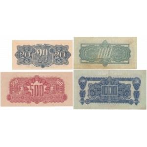 Czechosłowacja SPECIMEN zestaw 20-1.000 korun 1944 (4szt)