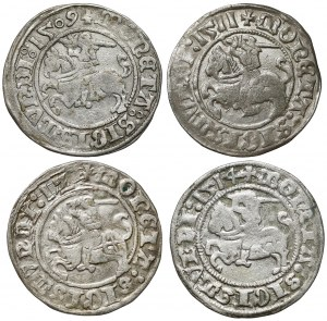 Półgrosze Zygmunt I Stary - Wilno 1509-1514 (4szt)
