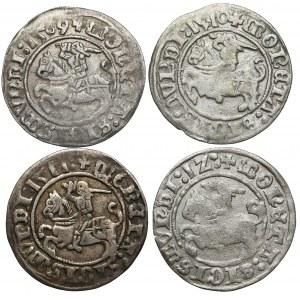 Półgrosze Zygmunt I Stary - Wilno 1509-1512 (4szt)