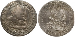 Szóstaki malborskie Zygmunta III - 1596 i 1599 - zestaw (2szt)