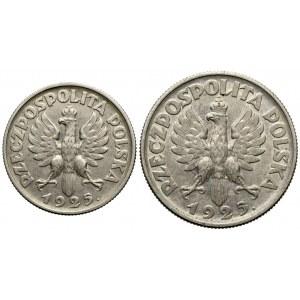 1 i 2 złote 1925 Kobieta i kłosy (2szt)