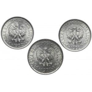 50 groszy i 1 złoty 1971-1972 (3szt)