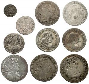 Niemcy, Prusy, od feniga do orta 1682-1766 (10szt)