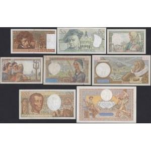 Francja, zestaw banknotów (8szt)