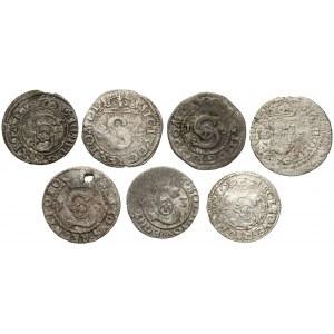 Szelągi koronne Zygmunta III - zestaw (7szt)