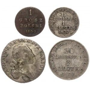 XIX wiek, od grosza do 1/3 talara - zestaw (4szt)