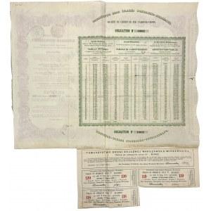 Tow. Drogi Żelaznej Warszawsko-Wiedeńskiej, Obligacja 125 rub 1860