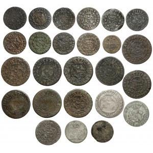 Poniatowski, od półgrosza do złotówki - duży zestaw (25szt)