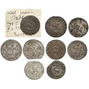 Szelągi z różnych mennic Zygmunta III - zestaw (9szt)