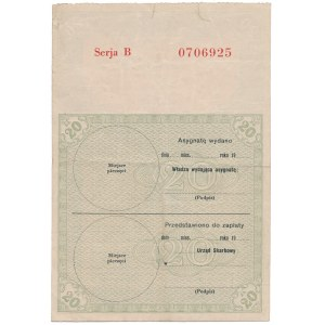 Asygnata Ministerstwa Skarbu (1939) - 20 zł