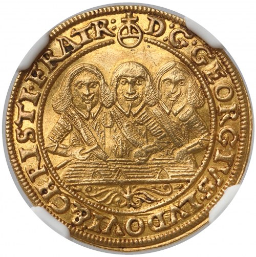 Śląsk, Trzej Bracia, Dukat 1653 - PIĘKNY