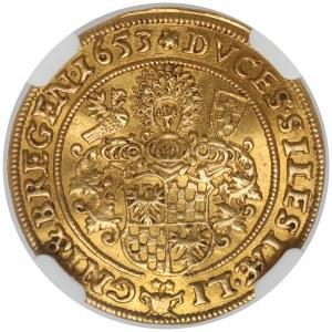 Śląsk, Trzej Bracia, Dukat 1653, Brzeg - PIĘKNY