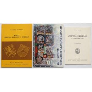 Monety Kurlandii, lwowskie i toruńskie (3szt)