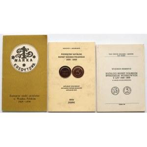 Bartoszewicki, Jakubowski, Niemirycz - Katalogi monet Spółdzielni Wojskowych (3szt)