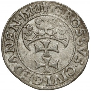 Zygmunt I Stary, Grosz Gdańsk 1538 - PRVSS